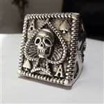 Ace of Spades Skull Ring Stainless Steel