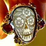Day of the Dead Sugar Skull Wedding Ring