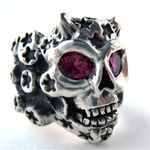 Skull Rings Demon Comet Mens Rings