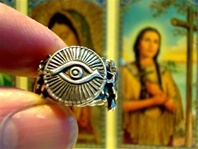 Little Eye of God Amulet Good Luck Ring two