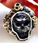 Shungite Skull Ring