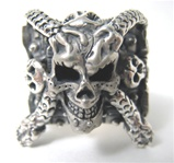 WIcked DAy of the Dead skull rings