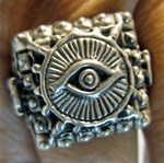 Eye of God Good Luck Ring