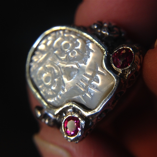 Day Of The Dead Sugar Skulls Rings His And Hers Wedding Set