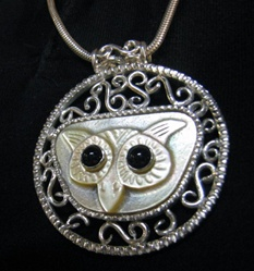Great White Owl Amulet Necklace