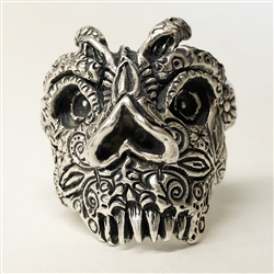 American Stars and Stripes Skull Ring