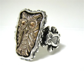 Owl Great Bronze The Flying Cat Ring