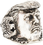 Trump portrait solid sterling silver MAGA ring