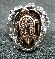 Hawaiian  Turtle Silver Ring