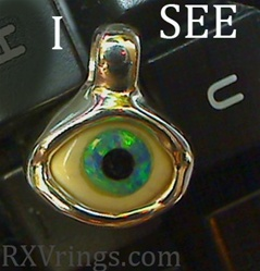 i see you hand made eye pendant